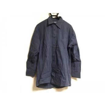 【中古】 ケンゾー KENZO 長袖シャツ サイズ2 M メンズ ダークネイビー ライトブルー チェック柄