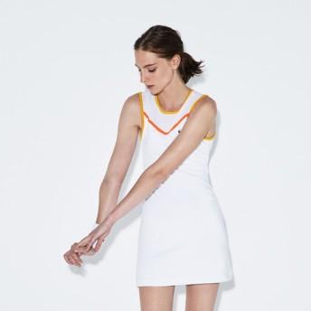 メッシュ レーサーバック テニス ドレス (ノースリーブ)