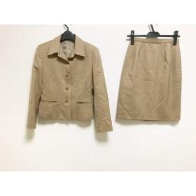 【中古】 ニューヨーカー NEW YORKER スカートスーツ レディース ライトブラウン 肩パッド