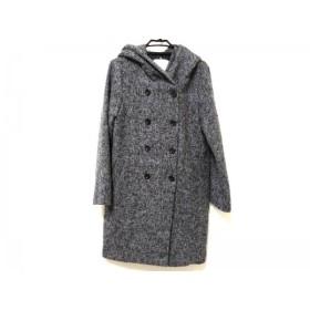 【中古】 セシルマクビー CECILMcBEE コート レディース 黒 グレー 冬物