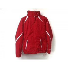 【中古】 コロンビア columbia ダウンジャケット サイズS メンズ 美品 レッド ライトグレー 冬物