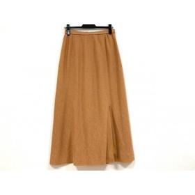 【中古】 レリアン Leilian スカート サイズ11 M レディース ライトブラウン