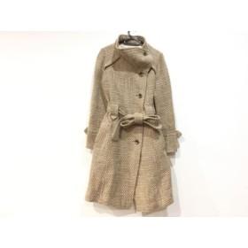 【中古】 コラージュ Collage コート サイズ38 M レディース ブラウン アイボリー 冬物/GALLARDAGALANTE