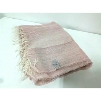 【中古】 アルテア Altea ストール(ショール) ピンク ラメ 麻 化学繊維