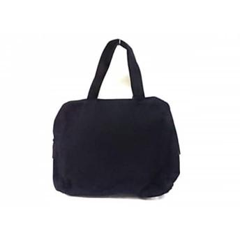 【中古】 プラダ PRADA ハンドバッグ - 黒 ウール