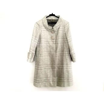 【中古】 ロペ ROPE コート サイズ7 S レディース ライトグレー グレー 冬物