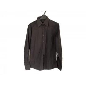 【中古】 グッチ GUCCI 長袖シャツ サイズ42 XS メンズ 黒