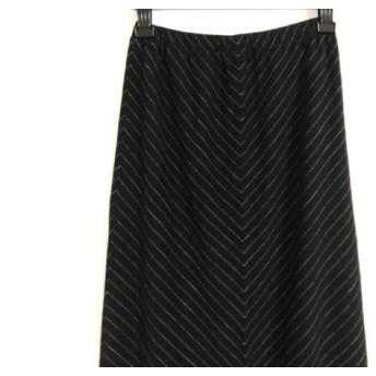 【中古】 レキップ ヨシエイナバ ロングスカート サイズ9 M レディース 黒 ダークグレー 白