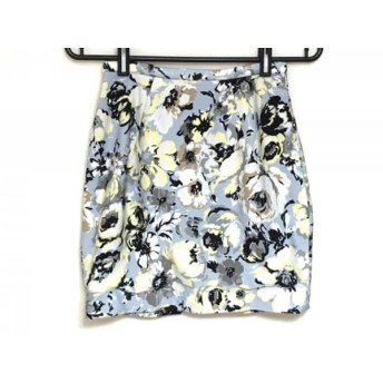 【中古】 フレイアイディー ミニスカート サイズ00 XS レディース ライトブルー 白 マルチ 花柄