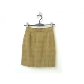 【中古】 クリスチャンラクロワ スカート サイズ36 S レディース 美品 ベージュ レッド ダークブラウン