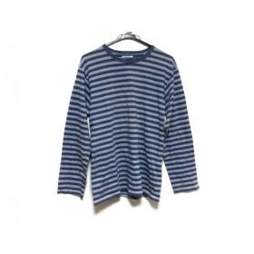 【中古】 アニエスベー agnes b 長袖Tシャツ サイズ1 S メンズ ネイビー グレー ボーダー/homme