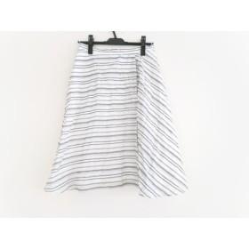 【中古】 アンタイトル UNTITLED スカート サイズ2 M レディース 白 黒 ストライプ