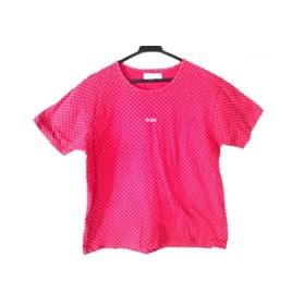 【中古】 ピンクハウス PINK HOUSE 半袖Tシャツ レディース レッド ベージュ ドット柄