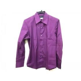 【中古】 アニエスベー agnes b 長袖シャツ サイズ1 S メンズ パープル homme