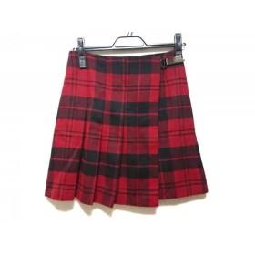 【中古】 アンタイトル UNTITLED 巻きスカート サイズ1 S レディース レッド 黒