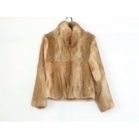 【中古】 バックステージ BACKSTAGE コート サイズ9 M レディース 美品 ベージュ ライトブラウン マルチ