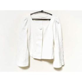 【中古】 アナイ ANAYI ジャケット サイズ36 S レディース 白 ショート丈