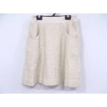 【中古】 ジャスグリッティー JUSGLITTY スカート サイズ2 M レディース ベージュ ツイード/ラメ