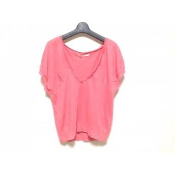 【中古】 マカフィ MACPHEE 半袖セーター サイズ1 S レディース ピンク