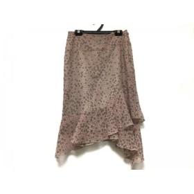 【中古】 マテリア MATERIA スカート サイズ36 S レディース 美品 ライトブラウン ピンク パープル