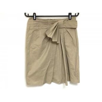 【中古】 ランバンオンブルー LANVIN en Bleu スカート サイズ36 S レディース ライトブラウン リボン