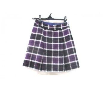 【中古】 ノーブランド スカート サイズ60 レディース パープル