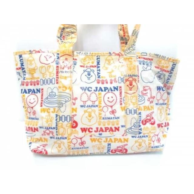 【中古】 ダブルシー WC トートバッグ 白 ベージュ マルチ コーティングキャンバス