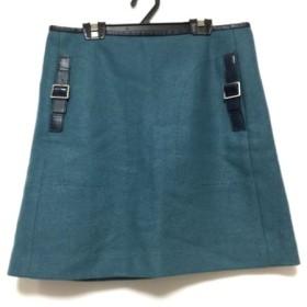 【中古】 アドーア ADORE ミニスカート サイズ38 M レディース ネイビー 黒
