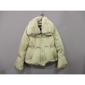 【中古】 コトゥー COTOO ダウンジャケット サイズ38 M レディース ベージュ レッキスファー/冬物