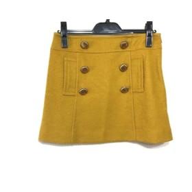 【中古】 アプワイザーリッシェ Apuweiser-riche ミニスカート サイズ2 M レディース イエロー ゴールド