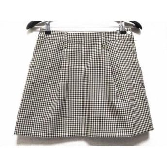 【中古】 パーリーゲイツ スカート サイズ0 XS レディース ベージュ ダークネイビー ボルドー