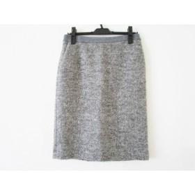 【中古】 トゥルートラサルディ TRU TRUSSARDI スカート サイズ38 M レディース 美品 グレー 白