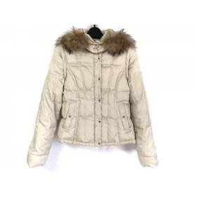 【中古】 ボールジー ダウンジャケット サイズ38 M レディース アイボリー 冬物/袖・フード取り外し可
