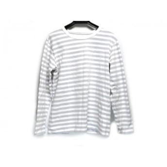 【中古】 アニエスベー agnes b 長袖Tシャツ サイズT3 レディース 白 パープル ボーダー