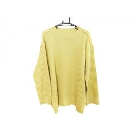【中古】 イッセイミヤケ ISSEYMIYAKE 長袖セーター サイズXS メンズ ライトグリーン