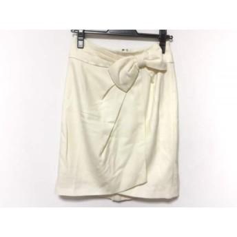【中古】 アプワイザーリッシェ Apuweiser-riche スカート サイズ2 M レディース アイボリー リボン