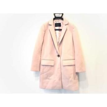 【中古】 ジャスグリッティー JUSGLITTY コート サイズ0 XS レディース ピンク 冬物