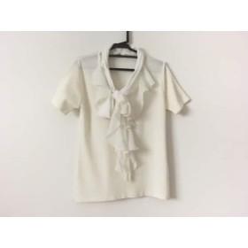 【中古】 ギャラリービスコンティ 半袖カットソー サイズ2 M レディース 美品 アイボリー 付け襟