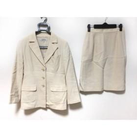 【中古】 ランバン LANVIN スカートスーツ サイズ38 M レディース アイボリー 肩パッド/La Collection