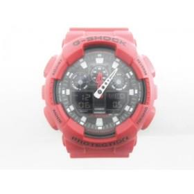 【中古】 カシオ CASIO 腕時計 G-SHOCK GA-100B メンズ 黒