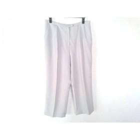 【中古】 レリアン Leilian パンツ サイズ17+ XL レディース ライトグレー