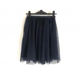 【中古】 アプワイザーリッシェ スカート サイズ0 XS レディース ネイビー チュールスカート