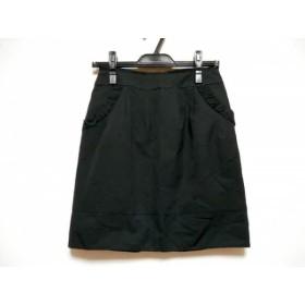 【中古】 アプワイザーリッシェ ミニスカート サイズ2 M レディース ダークネイビー フリル