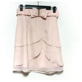【中古】 アプワイザーリッシェ Apuweiser-riche ミニスカート サイズ2 M レディース ベージュ