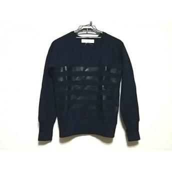 【中古】 ルシェルブルー LE CIEL BLEU 長袖セーター サイズ38 M レディース ダークネイビー 黒