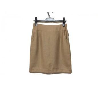 【中古】 ジャスグリッティー JUSGLITTY スカート サイズ2 M レディース ライトブラウン リボン