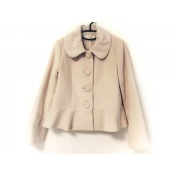 【中古】 レストローズ L'EST ROSE コート サイズ2 M レディース 美品 アイボリー 冬物