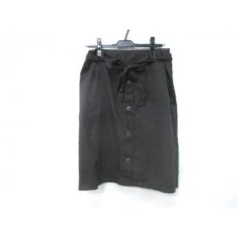 【中古】 ノーブランド スカート サイズ80 レディース ダークブラウン