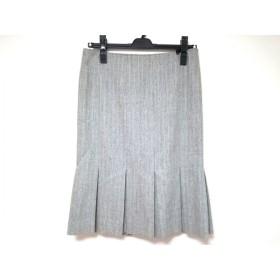 【中古】 マテリア MATERIA スカート サイズ38 M レディース グレー ストライプ/ラメ