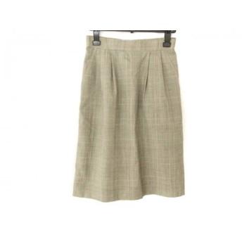 【中古】 バーバリーズ Burberry's スカート サイズ9 M レディース ライトグレー マルチ チェック柄